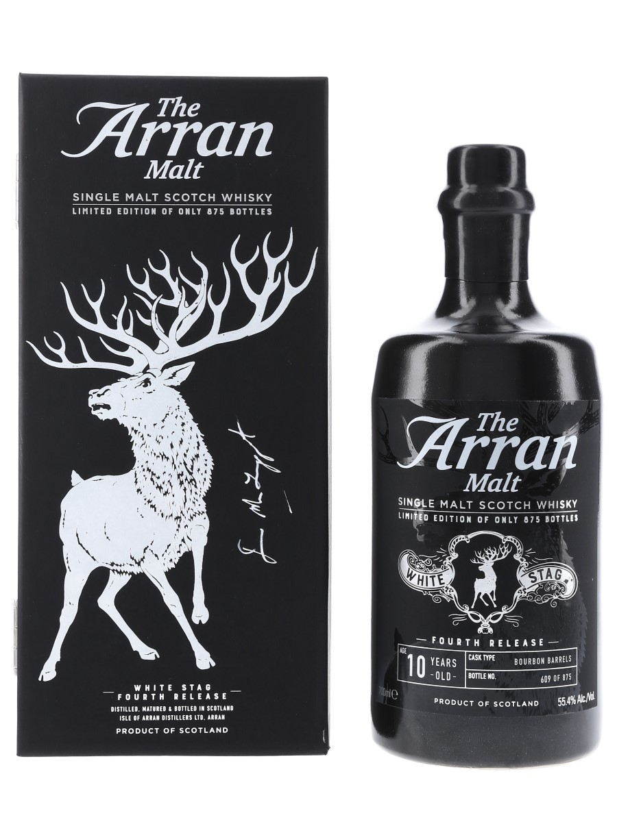 Arran 10 Year Old White Stag Tasting Panel 2018 - Signed Bottle 70cl / 55.4%