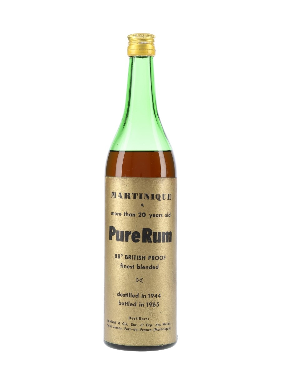 Martinique 1944 Pure Rum Lot 69930 Whisky Auction