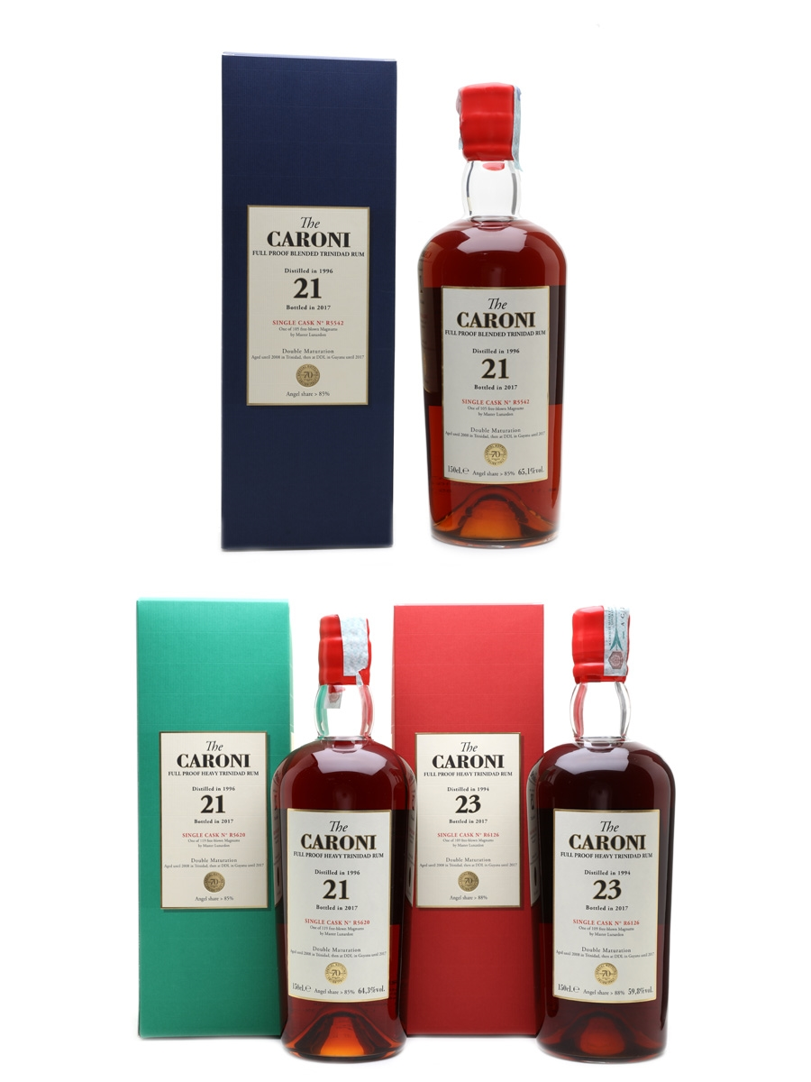 Caroni 1994 & 1996 Trinidad Rum Bottled 2017 - Velier 70th Anniversary - Large Format 3 x 150cl