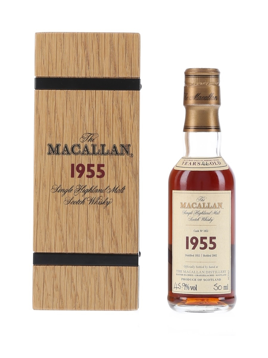 Macallan 1955 46 Year Old Fine & Rare Bottled 2002 - Cask No.1851 5cl / 45.9%