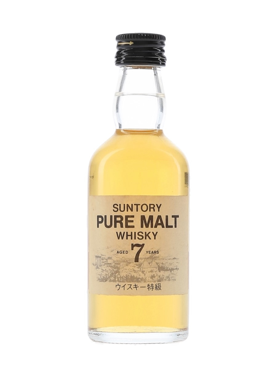 Suntory White Label 7 Year Old Bottled 1980s - Hakushu Distillery 5cl / 43%