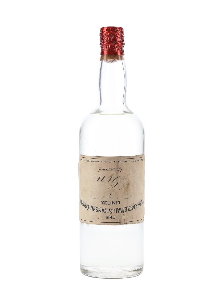 Union Castle Line Gin Bottled 1950s-1960s 75cl