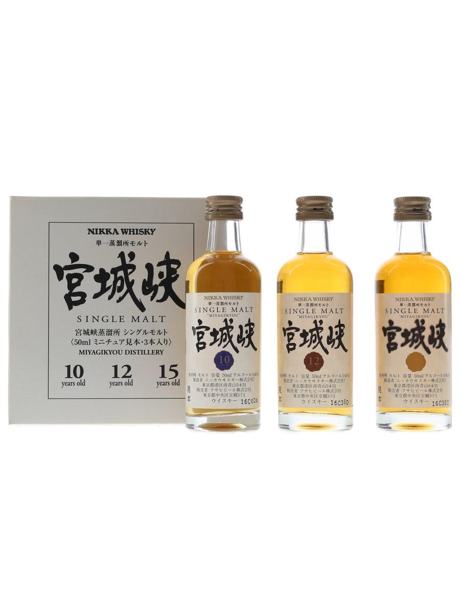 Nikka Miyagikyou Set Bottled 2000s 3 x 5cl / 45%