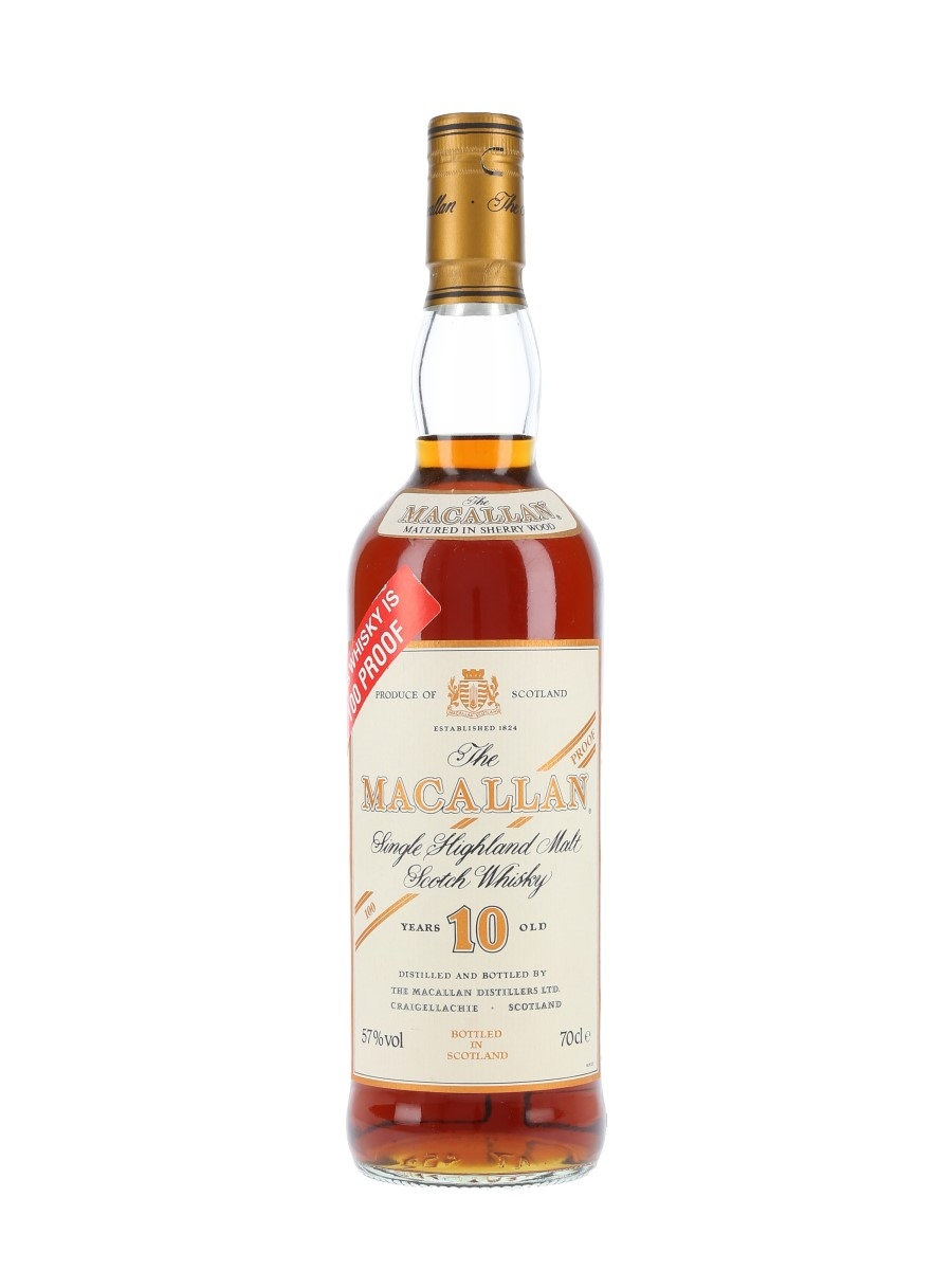 Macallan 10 Year Old 100 Proof Bottled 1990s 70cl / 57%