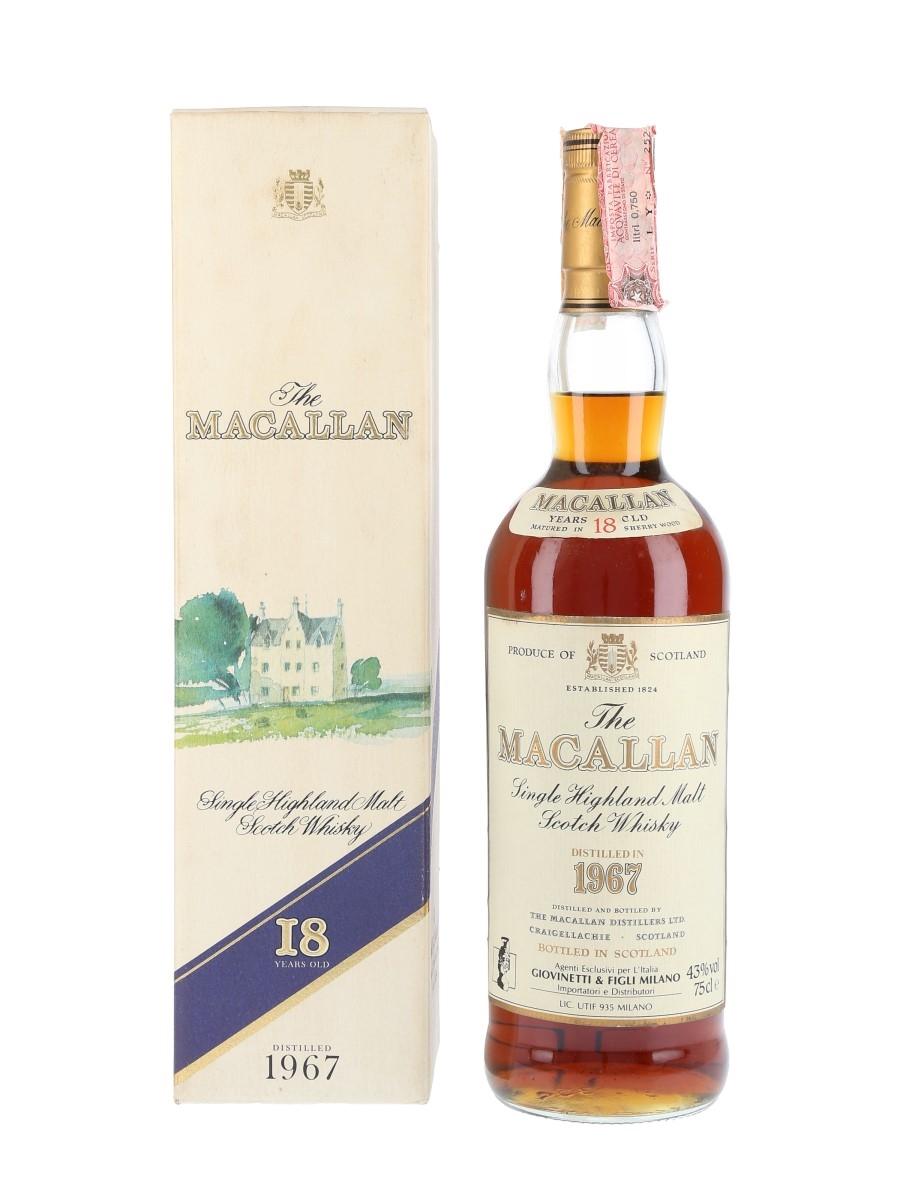 Macallan 1967 18 Year Old Giovinetti 75cl / 43%
