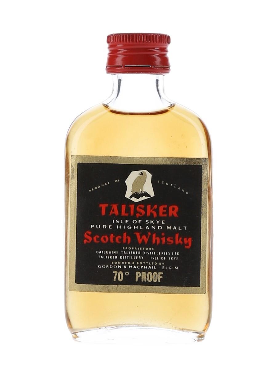 Talisker 70 Proof Gordon & MacPhail Bottled 1970s - Black Label Gold Eagle 5cl / 40%
