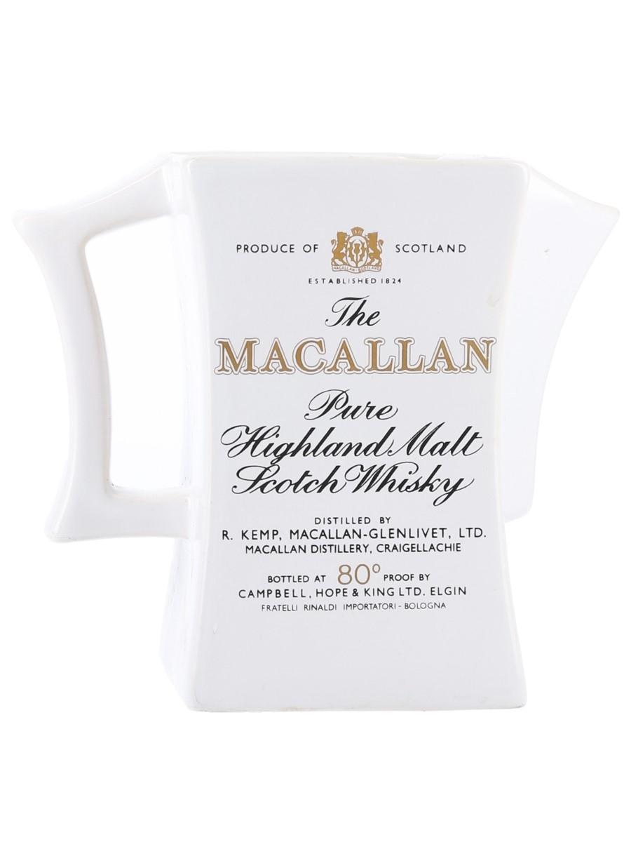 Macallan Water Jug 1970s-1980s - Rinaldi 14.5cm x 9.5cm x 9.5cm