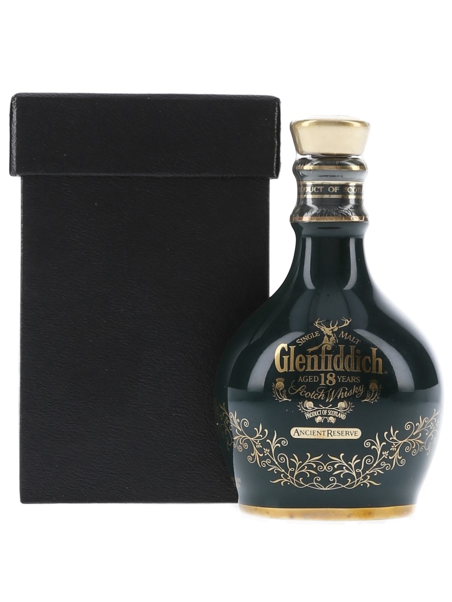 Glenfiddich 18 Year Old Ancient Reserve Green Spode Decanter 5cl / 43%