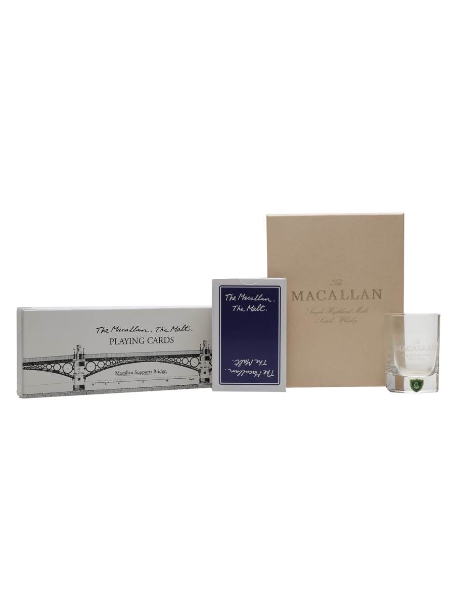 Macallan Playing Cards & Shot Glass