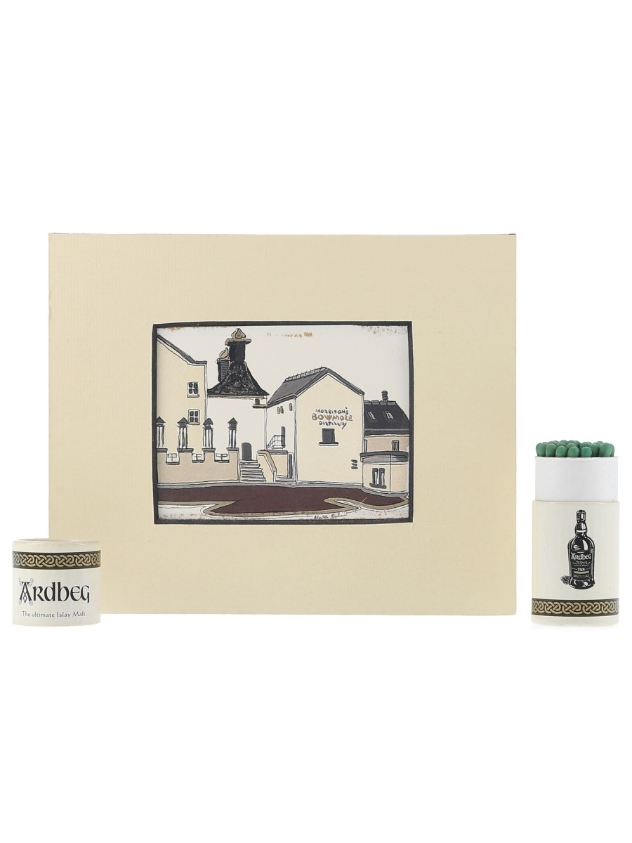 Ardbeg Matches & Bowmore Distillery Print