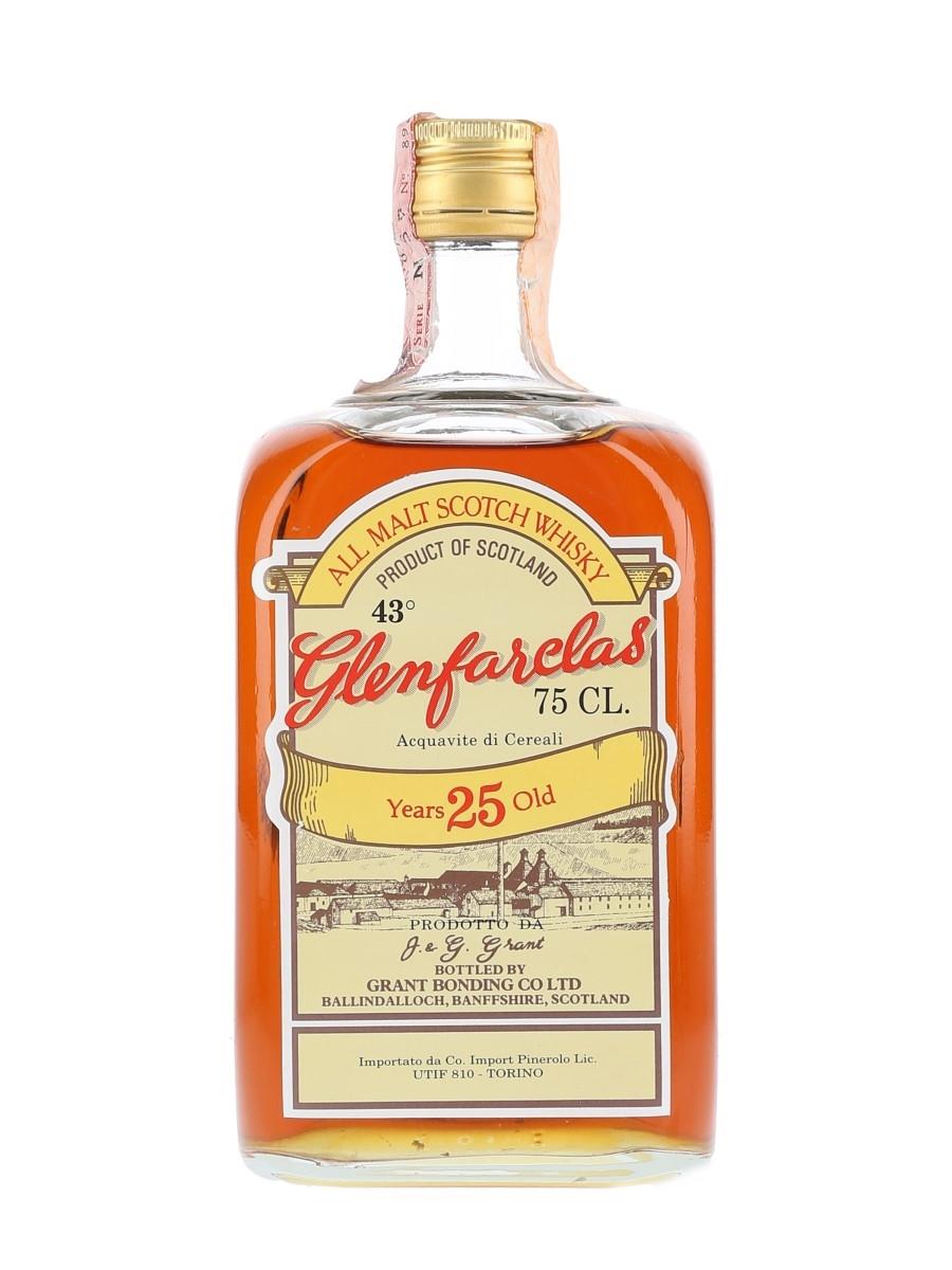 Glenfarclas 25 Year Old Bottled 1970s - Pinerolo 75cl / 43%