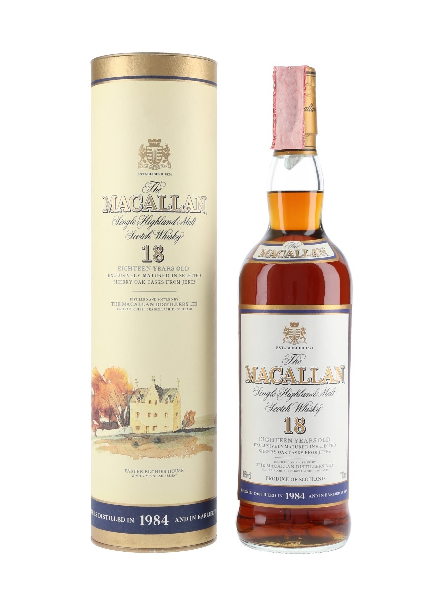 Macallan 1984 And Earlier 18 Year Old 70cl / 43%