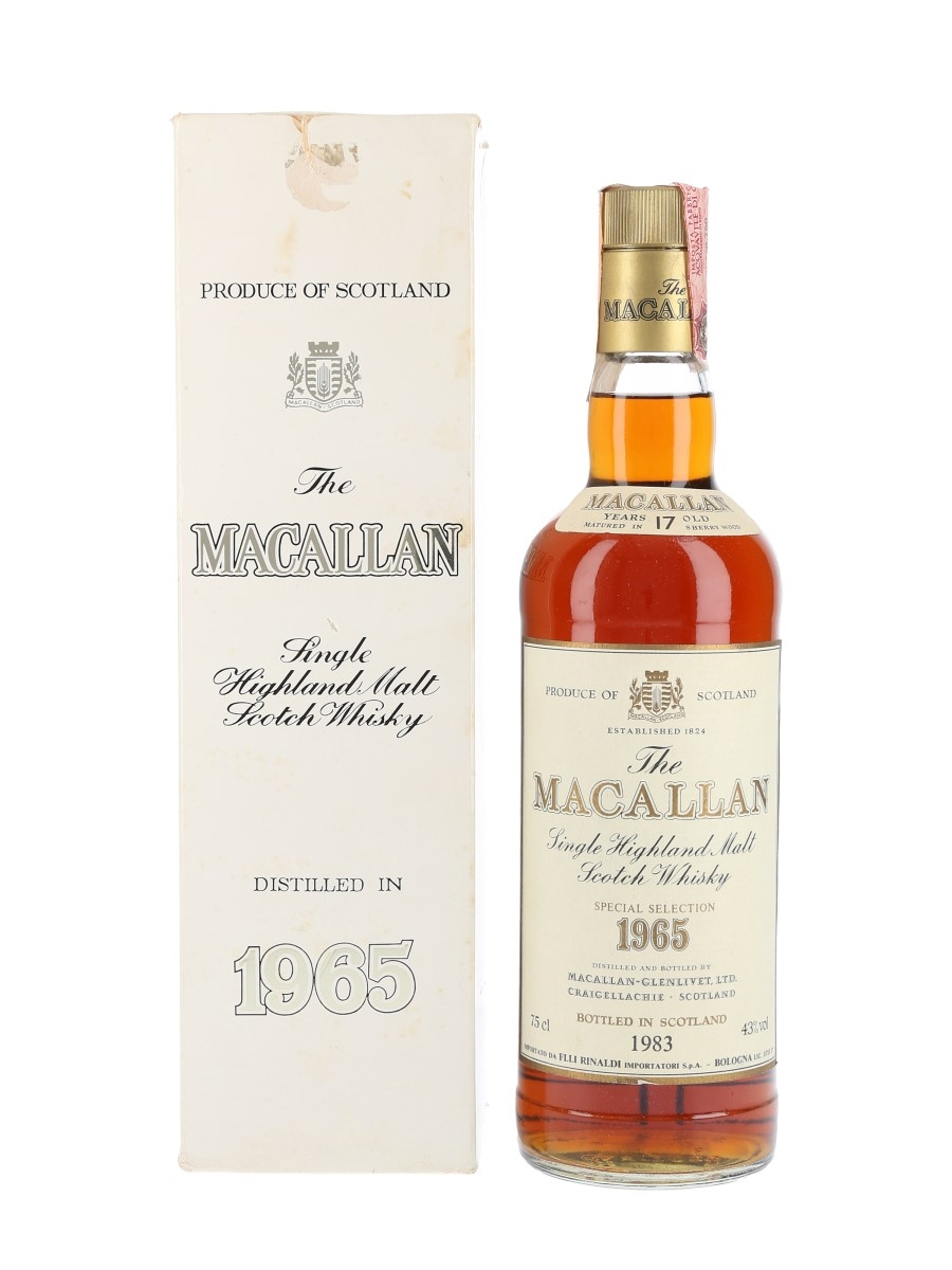 Macallan 1965 Bottled 1983 - Rinaldi 75cl / 43%