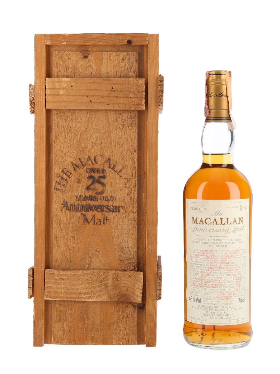 Macallan 1965 25 Year Old Anniversary Malt Bottled 1990 - Giovinetti 75cl / 43%