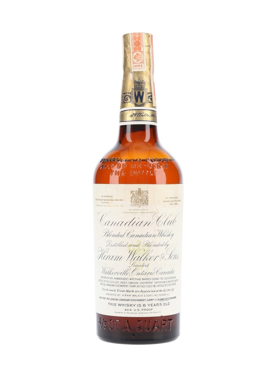 Canadian Club 6 Year Old 1937 Bottled 1940s 75.7cl / 45.2%