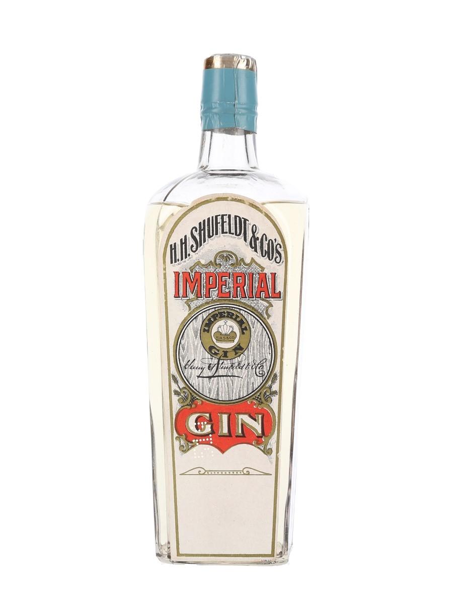 H H Shufeldt & Co's Imperial Gin Bottled 1910s 94cl