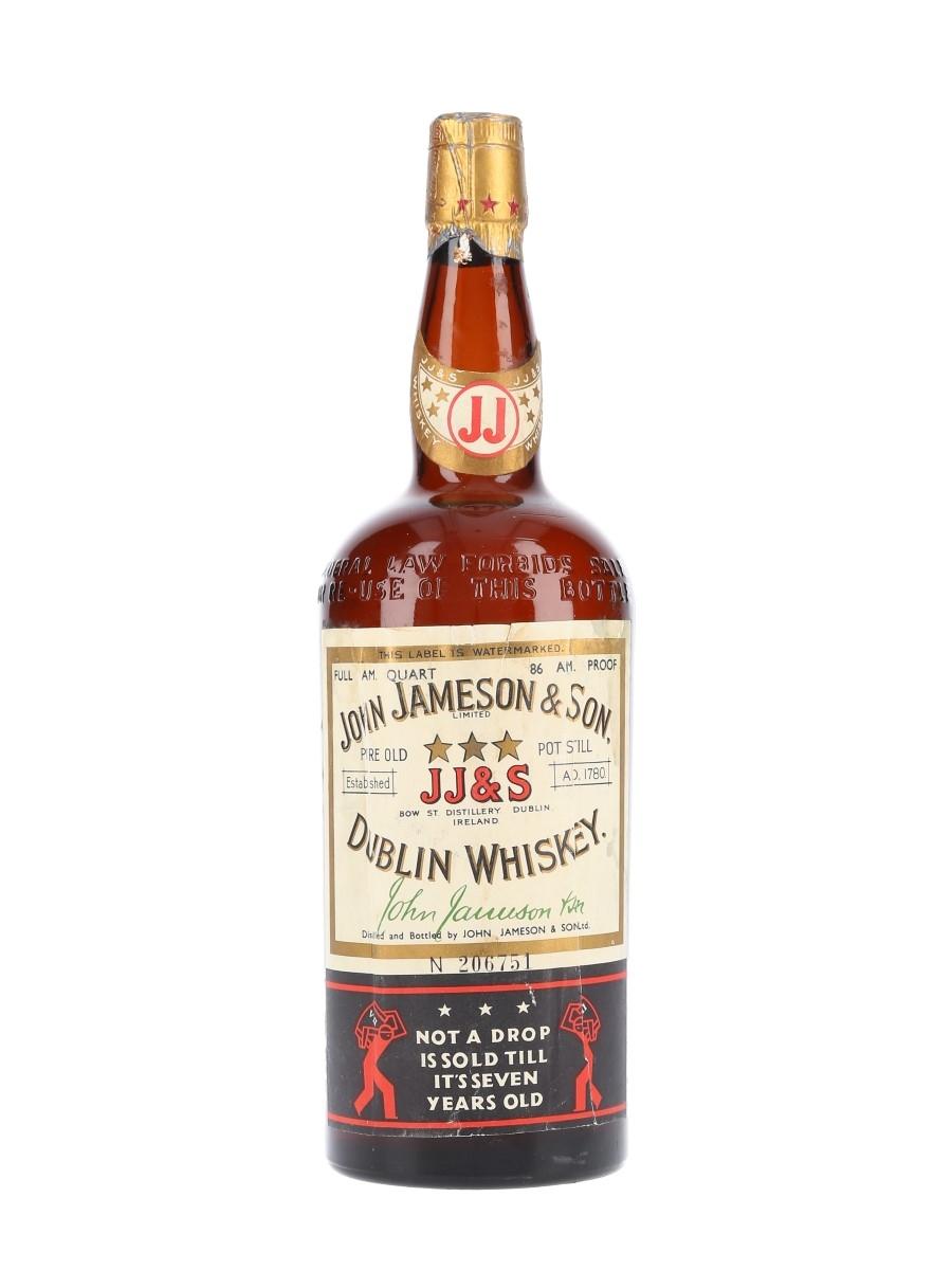 John Jameson & Son 7 Year Old 3 Star Bottled 1930s 94cl / 43%