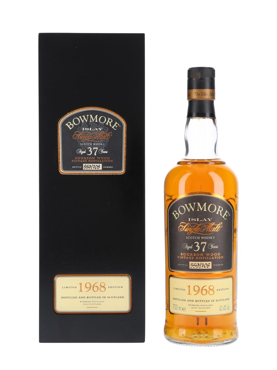 Bowmore 1968 37 Year Old Bourbon Wood 70cl / 43.4%
