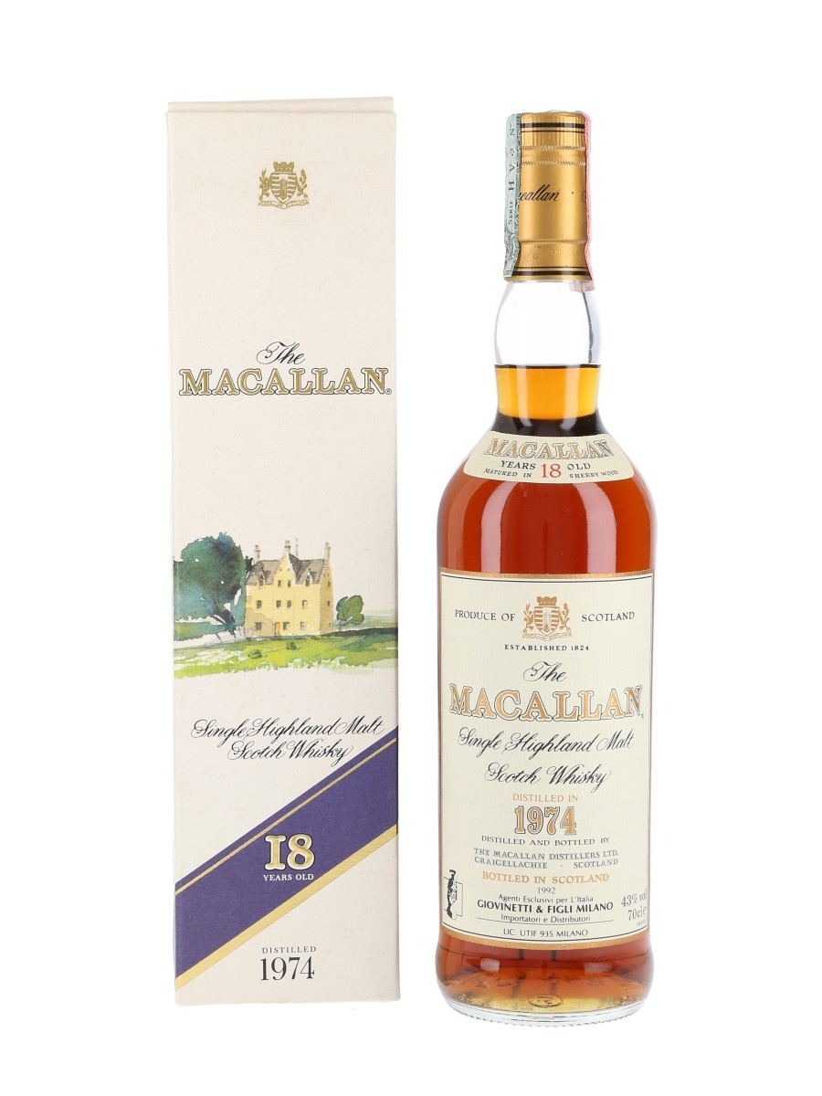 Macallan 1974 18 Year Old - Giovinetti 70cl / 43%