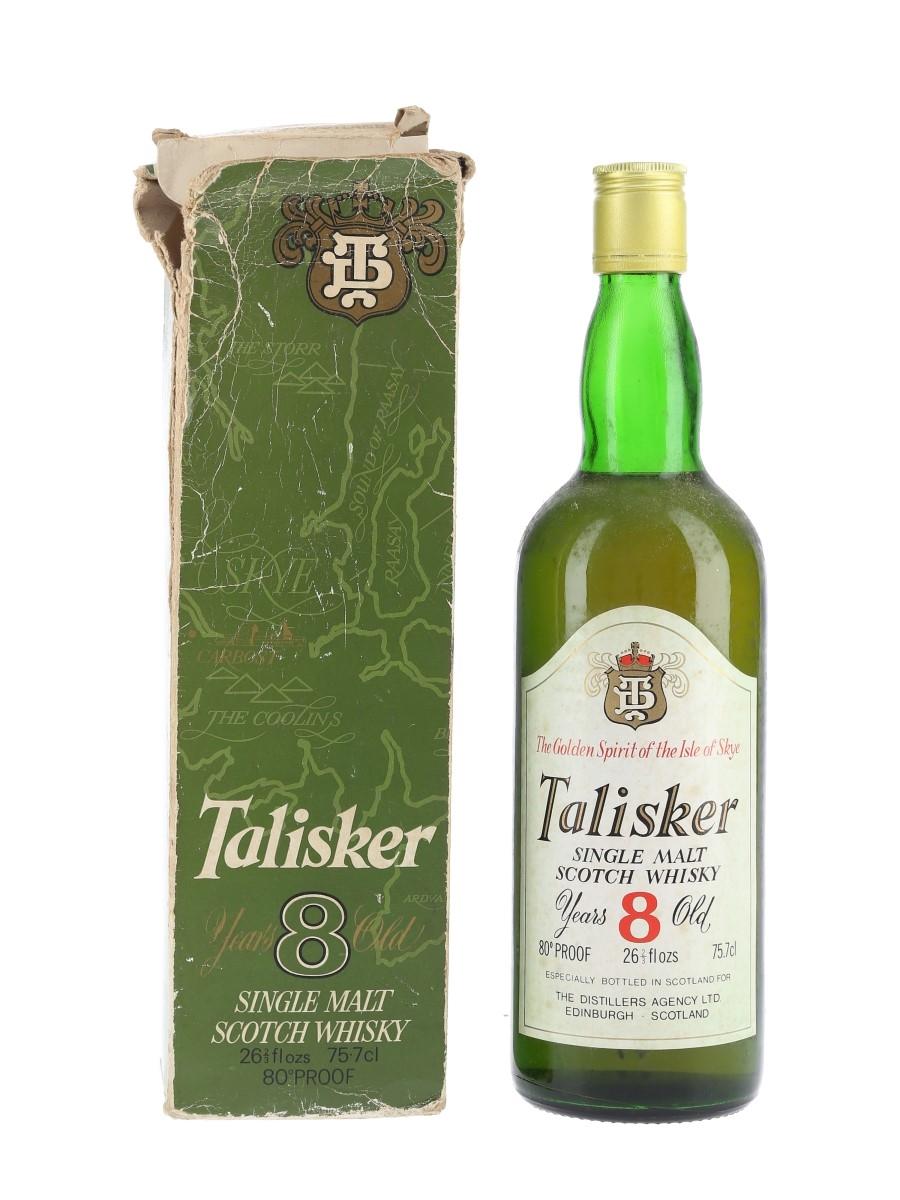 Talisker 8 Year Old Bottled 1970s - The Distiller's Agency Ltd 75.7cl / 46%