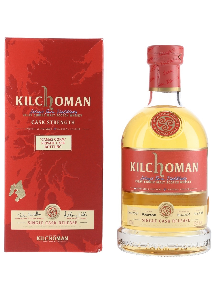 Kilchoman 2007 Camas Gorm Bottled 2014 - Private Cask Bottling 70cl / 58.5%