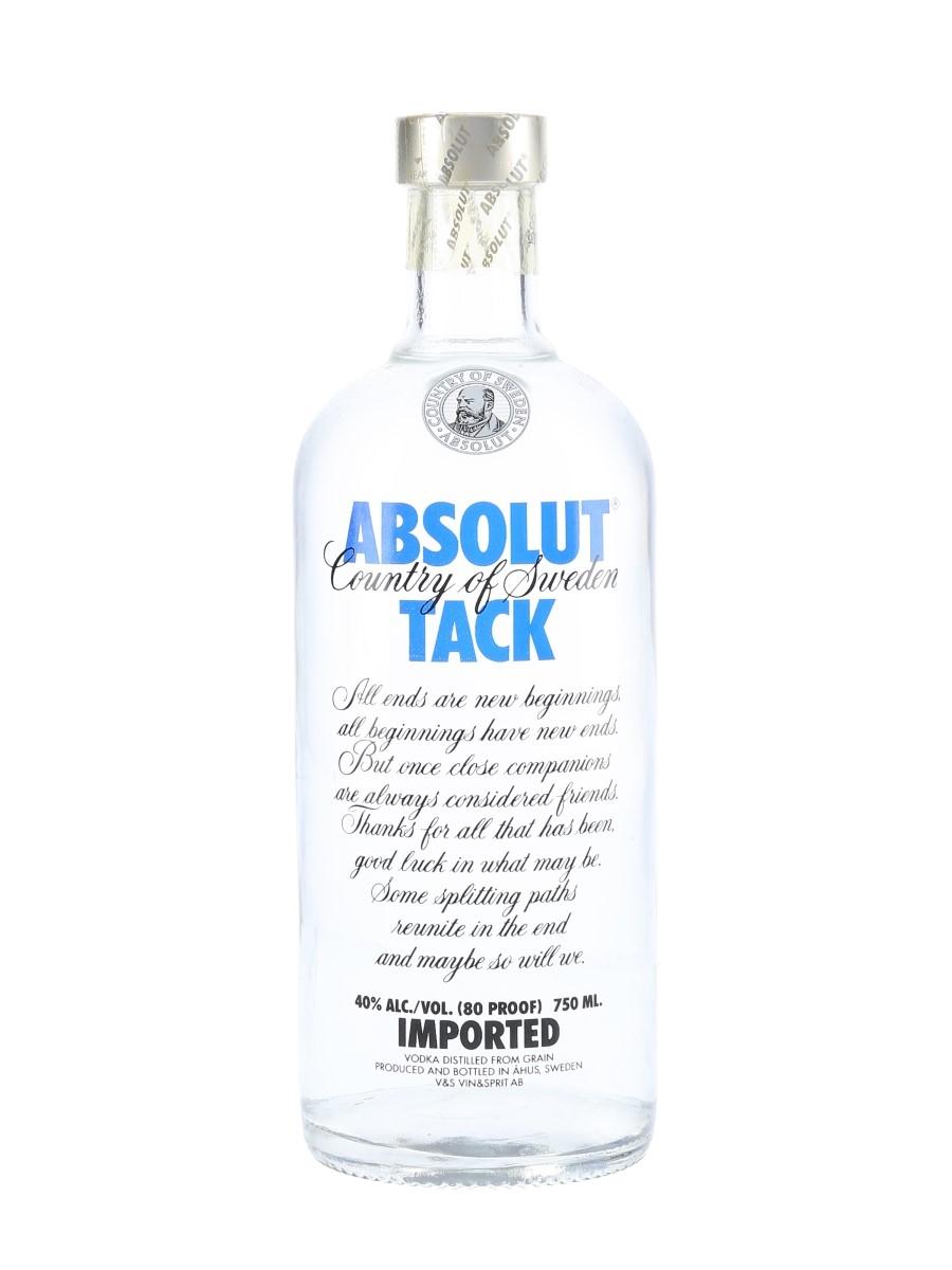 Absolut Tack Bottled 2008 75cl / 40%