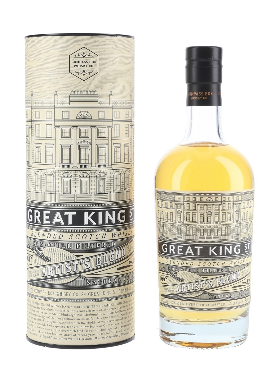 Great King Street Artist's Blend Compass Box 50cl / 43%