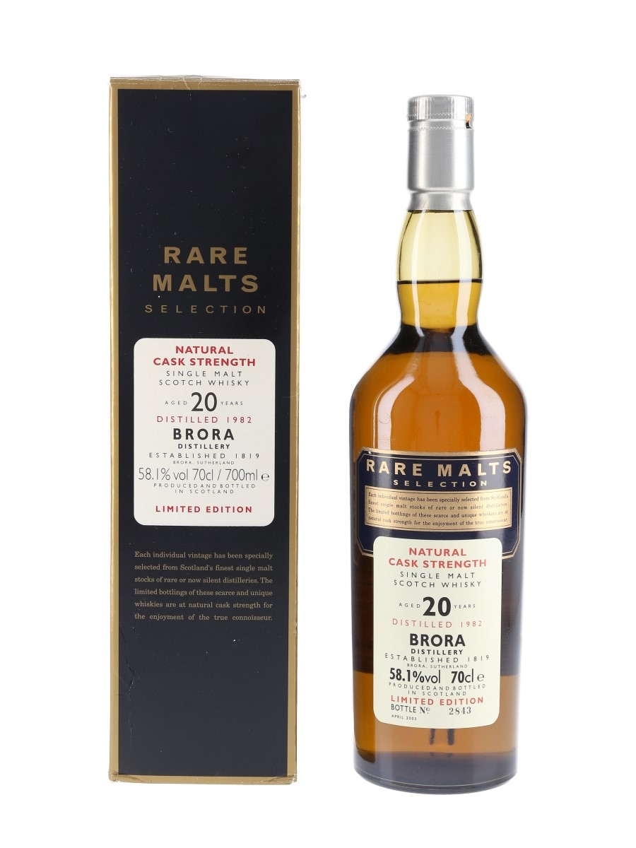 Brora 1982 20 Year Old Bottled 2003 - Rare Malts Selection 70cl / 58.1%