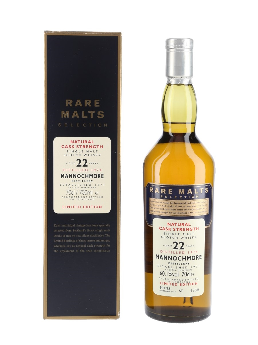Mannochmore 1974 22 Year Old Bottled 1997 - Rare Malts Selection 70cl / 60.1%