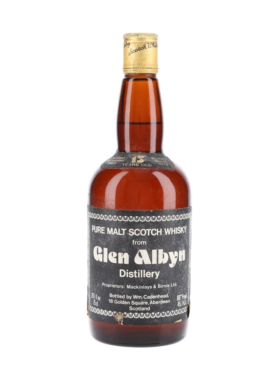 Glen Albyn 1963 15 Year Old Bottled 1979 - Cadenhead 'Dumpy' 75cl / 45.7%