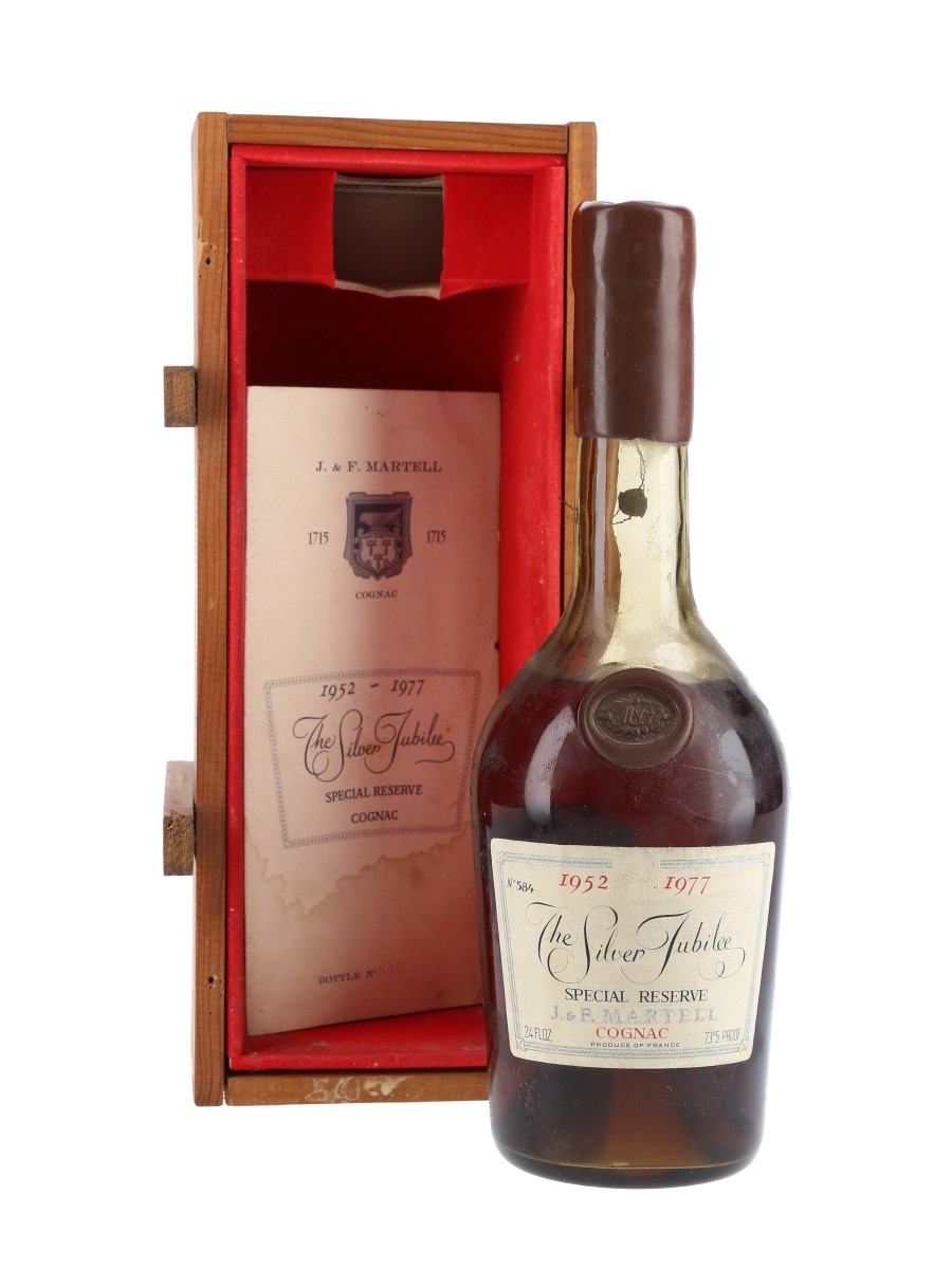 Martell Silver Jubilee Cognac 1952-1977 1815, 1906, 1914 & 1918 Vintages 68cl / 42%