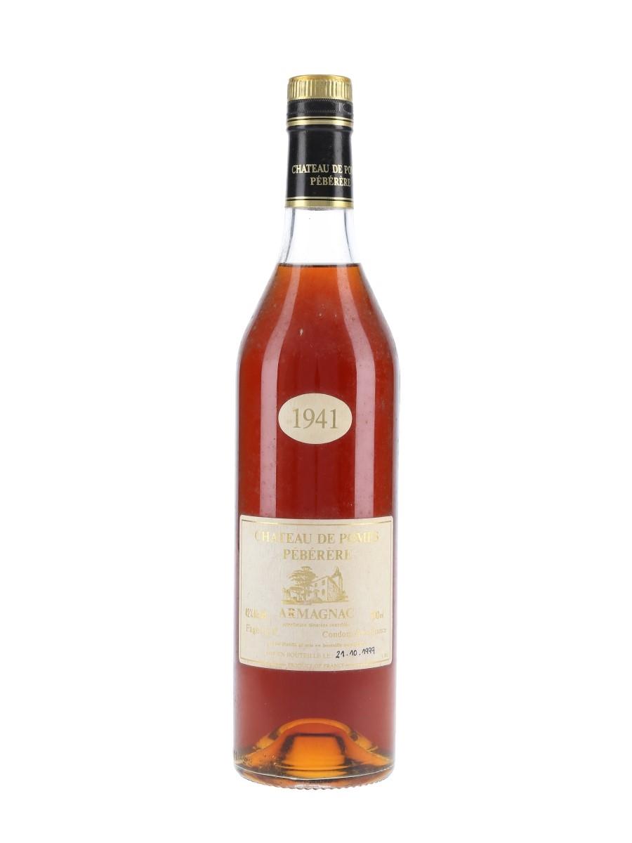 Chateau De Pomes Peberere 1941 Bottled 1999 - Faget L F 70cl / 42%