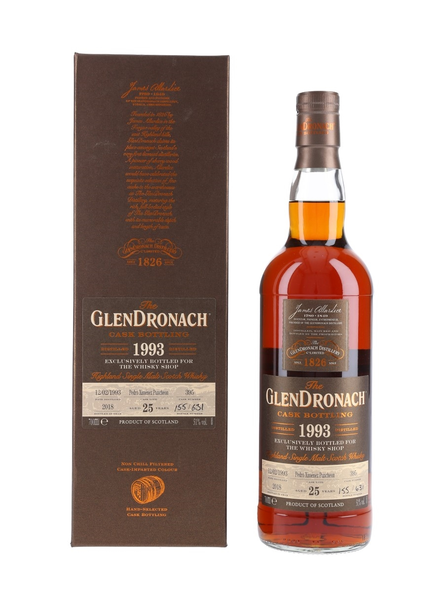 Glendronach 1993 Pedro Ximenez Puncheon 25 Year Old - The Whisky Shop 70cl / 51%