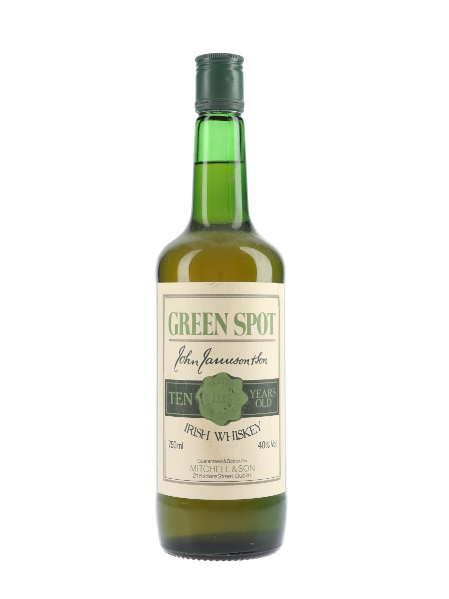 Jameson Green Spot 10 Year Old Bottled 1980s - Mitchell & Son 75cl / 40%