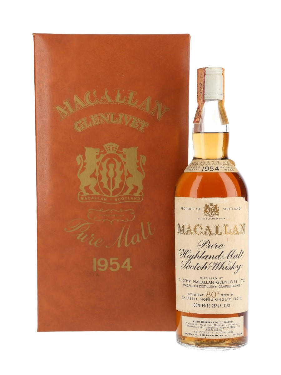 Macallan 1954 Campbell, Hope & King Bottled 1970s - Rinaldi 75cl / 45.85%