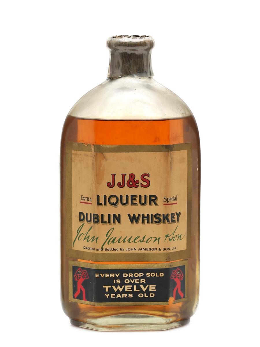 Jameson's JJ&S Liqueur Dublin Whisky 12 Years Old Bottled 1940s 75cl
