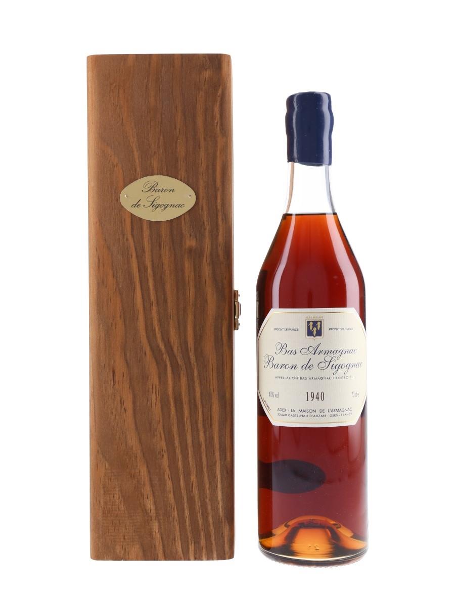 Baron De Sigognac 1940 Bas Armagnac Bottled 2005 70cl / 40%