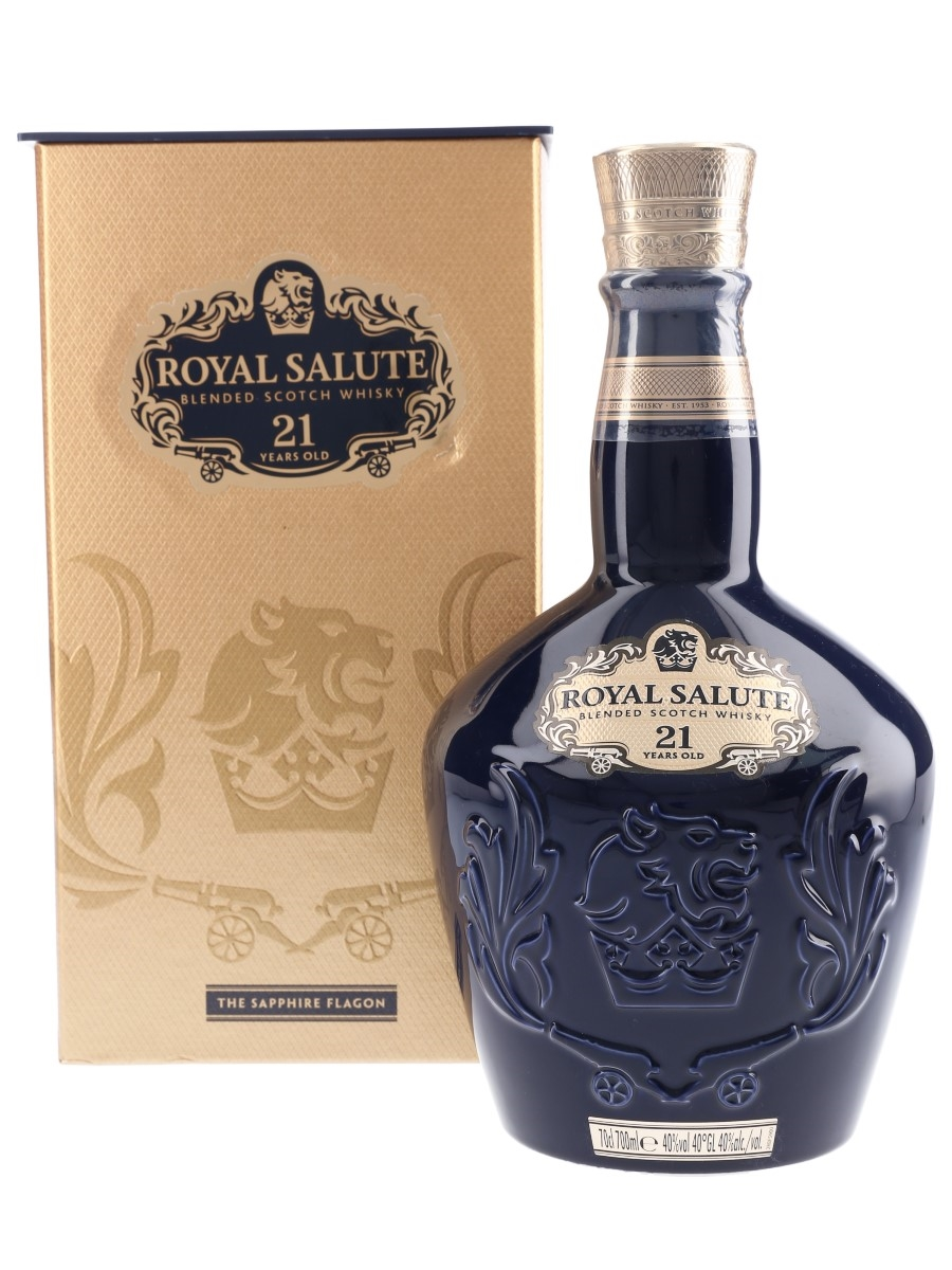Royal Salute 21 Year Old Bottled 2017 - The Sapphire Flagon 70cl / 40%