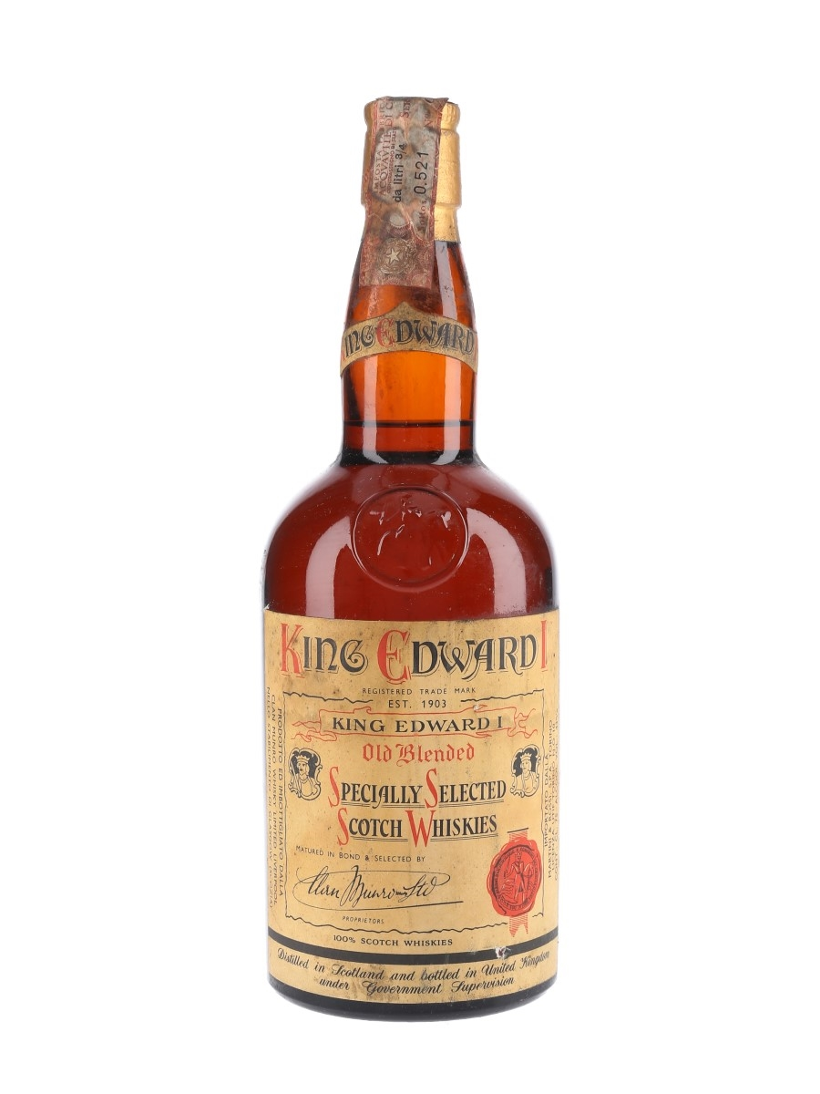 King Edward I Bottled 1960s - Clan Munro Whisky 75cl / 43%
