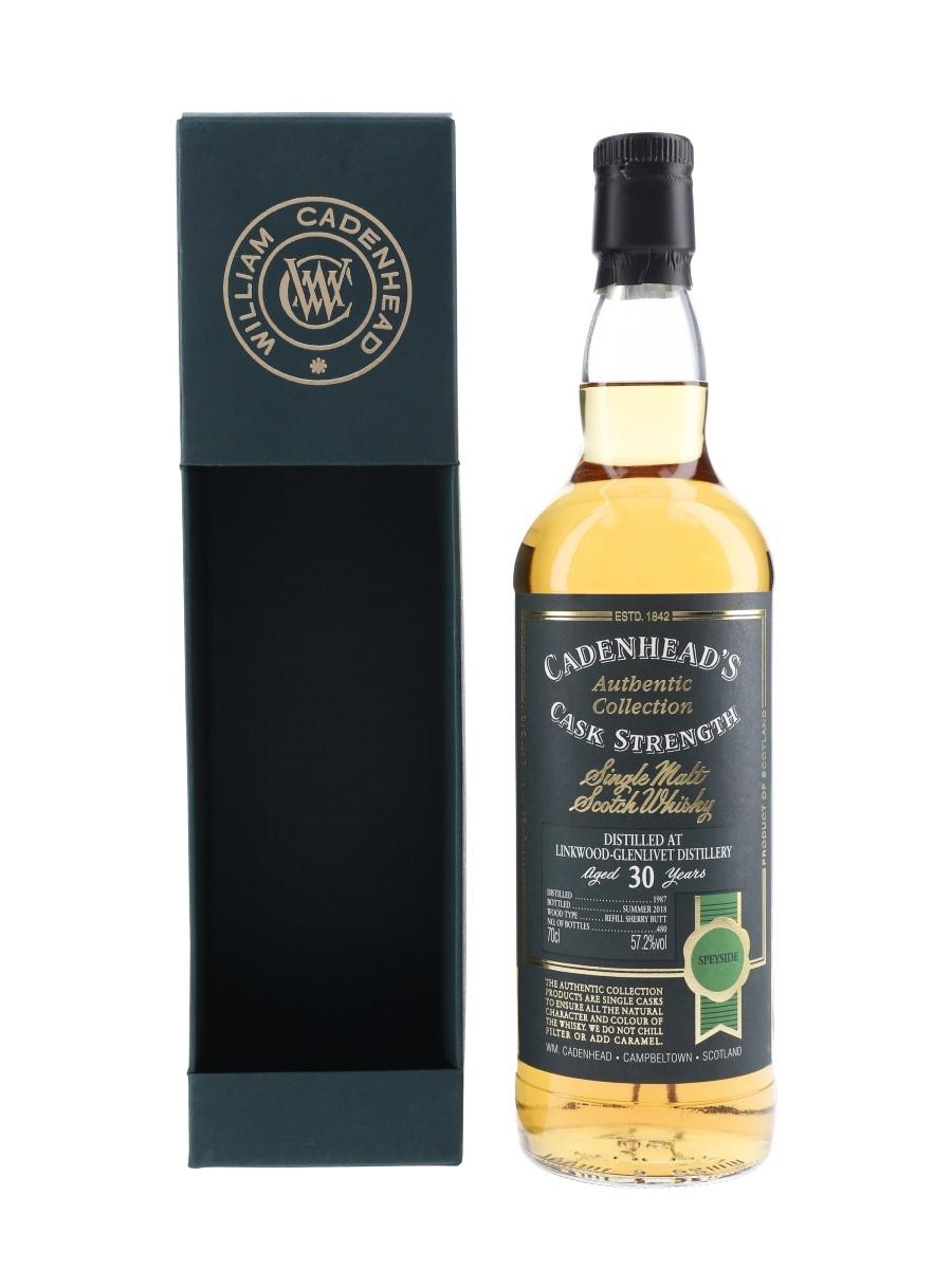Linkwood Glenlivet 1987 30 Year Old Bottled 2018 - Cadenhead's 70cl / 57.2%