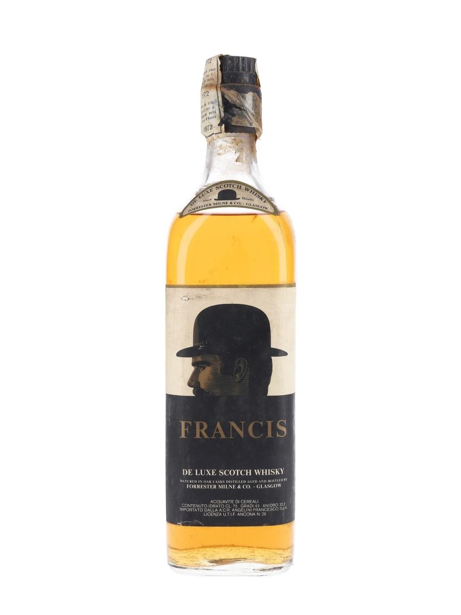 Francis Black Bowler De Luxe Bottled 1970s - Forrester Milne & Co 75cl / 43%
