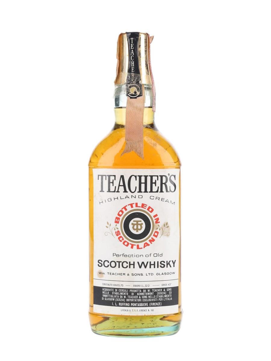 Teacher's Highland Cream Bottled 1970s - Ruffino 75cl / 40%