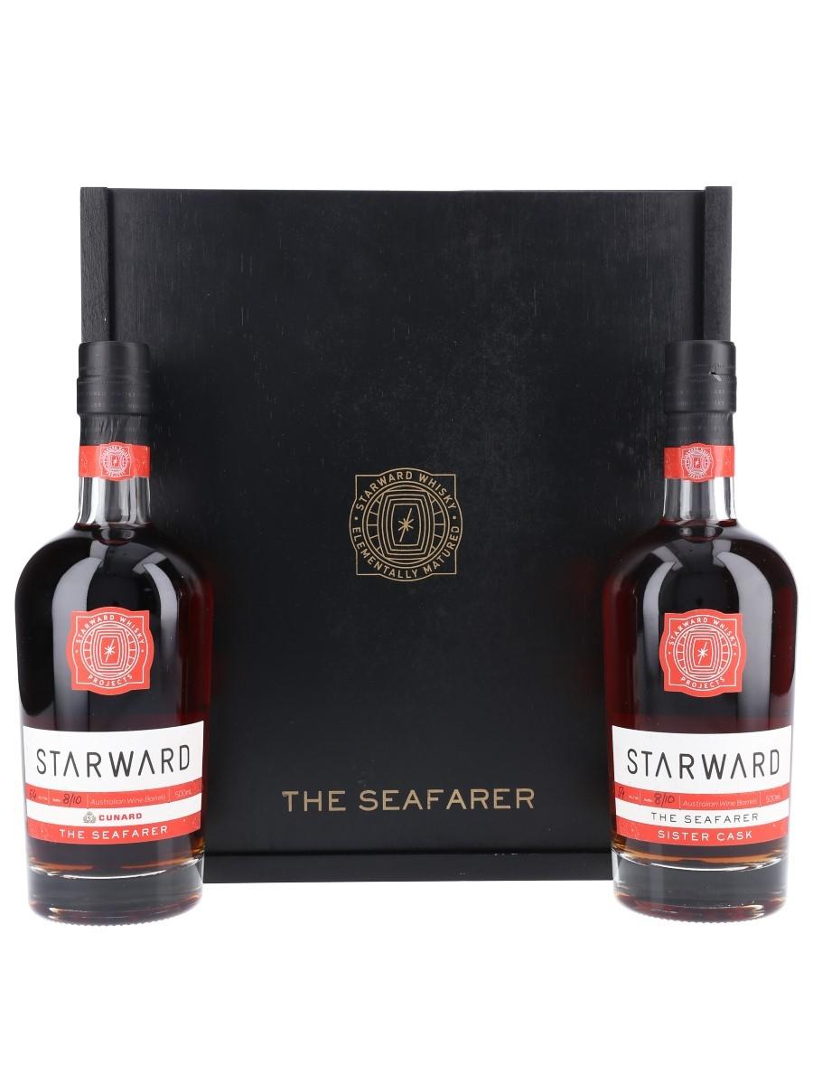 Starward X Cunard The Seafarer Twin Pack - Set Number 8 2 x 50cl / 54%