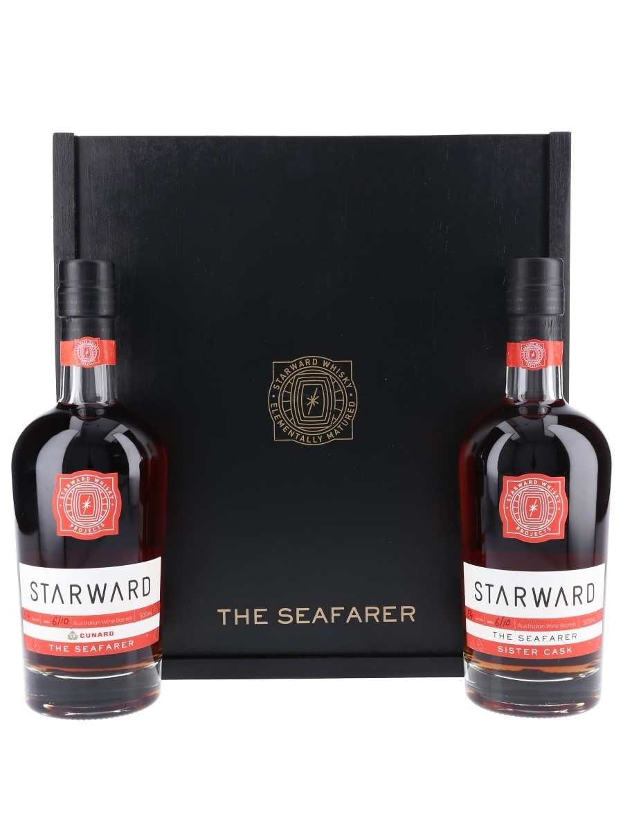 Starward X Cunard The Seafarer Twin Pack - Set Number 6 2 x 50cl / 54%
