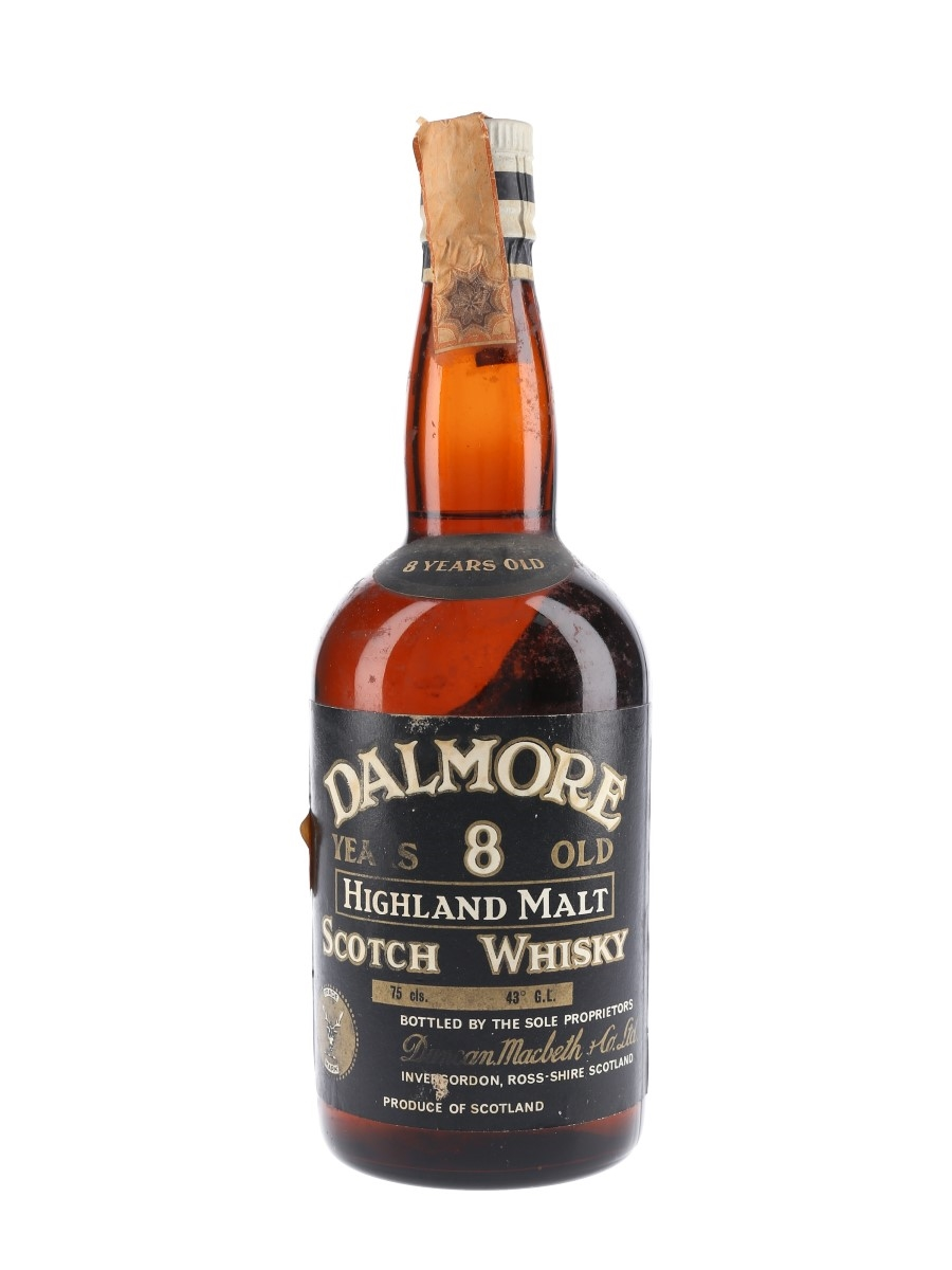 Dalmore 8 Year Old Bottled 1960s - Duncan Macbeth 75cl / 43%