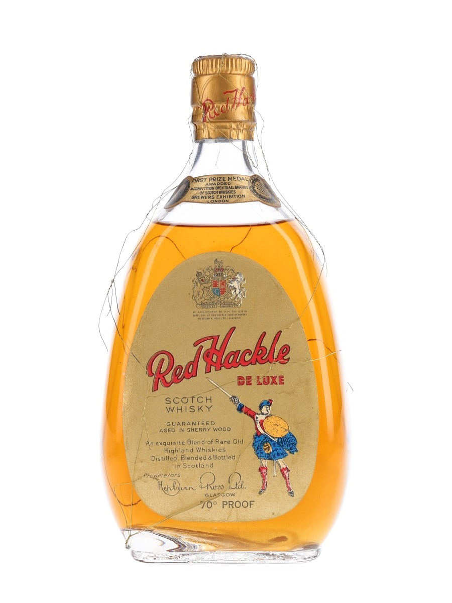Red Hackle De Luxe Bottled 1950s-1960s 75cl / 40%