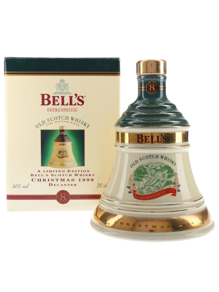 Bell's Christmas 1998 Ceramic Decanter 8 Year Old - Ingredients of Quality 70cl / 40%