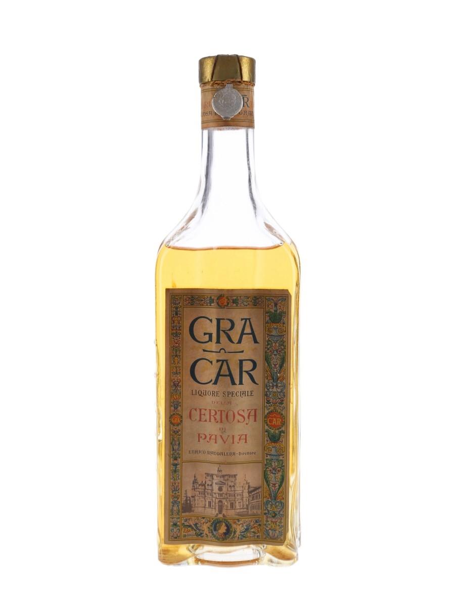 Gra Car Certosa Di Pavia Bottled 1950s 75cl