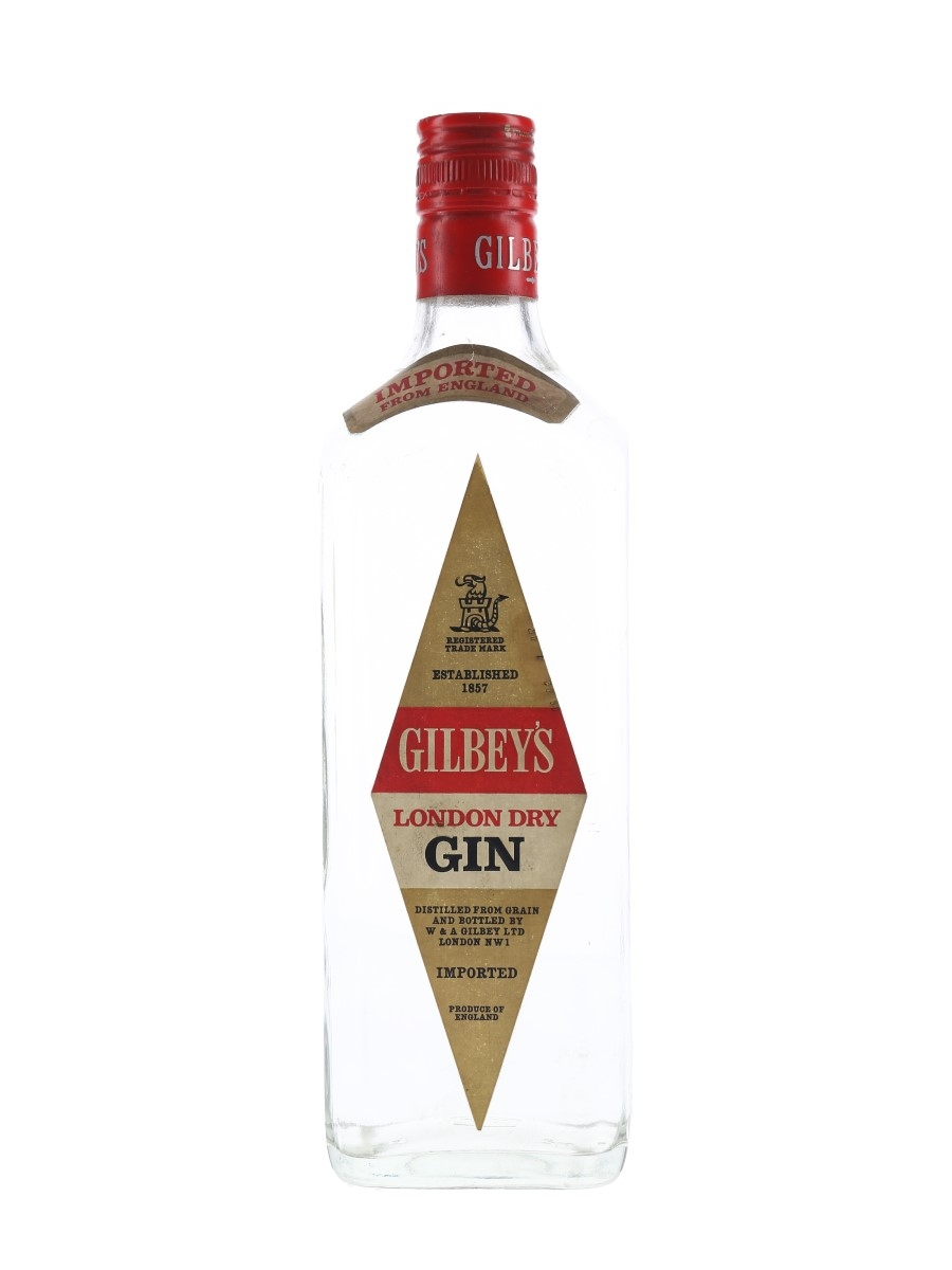 Gilbey's London Dry Gin Bottled 1970s 75cl