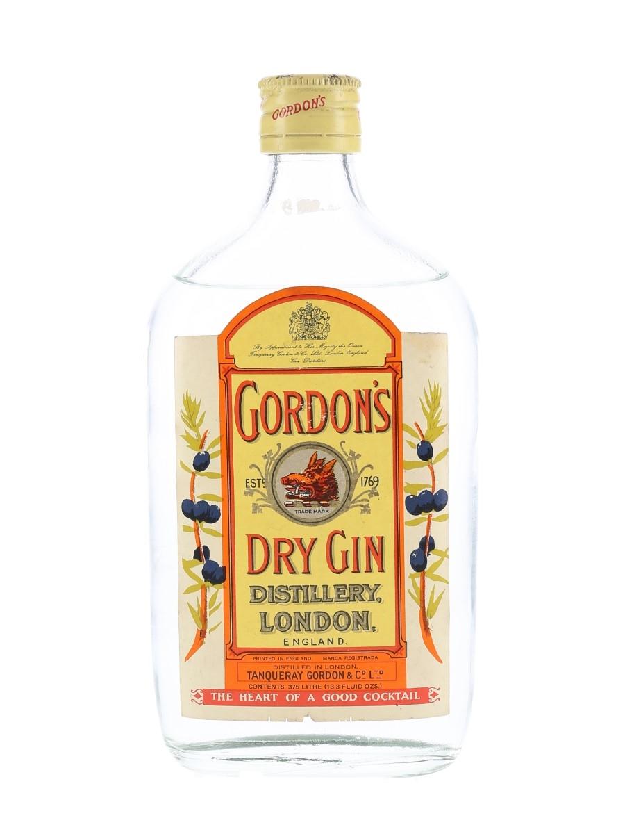 Gordon's Dry Gin Bottled 1960s-1970s 37.5cl